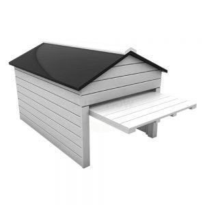 Garažna hiška za robotsko kosilnico 1